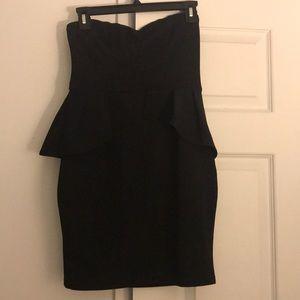 Forever 21 black strapless dress